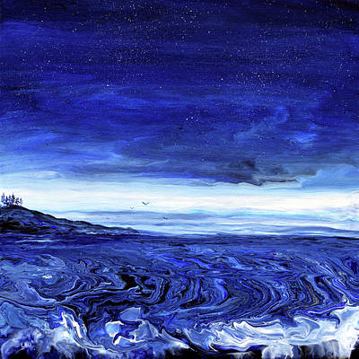 Royalty-Free and Rights-Managed Images - Blue Seascape by Laura Iverson