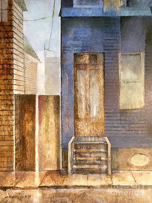 Painting - Blue Shotgun House in Mid City by Mike Chambers