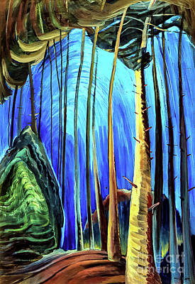 Water Droplets Sharon Johnstone - Blue Sky by Emily Carr 1936 by Emily Carr