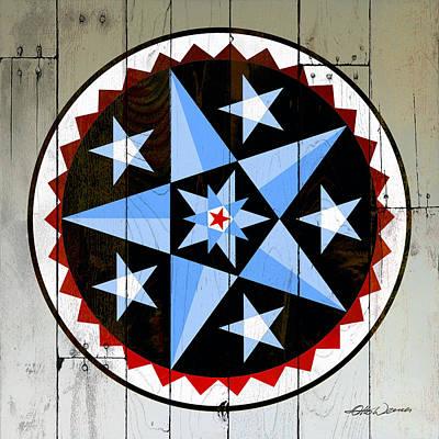 Beverly Brown Fashion - Blue Star Barn Quilt Hex by Hanne Lore Koehler