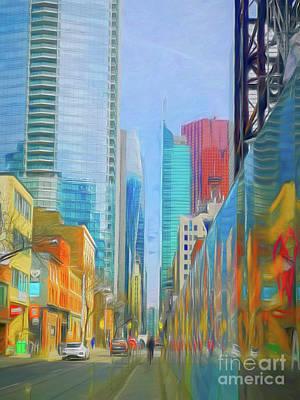 Unicorn Dust - Blue Toronto, artwork 1 by Helen Filatova