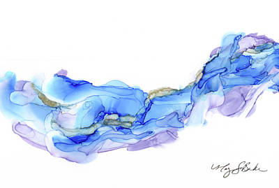 Painting - Blue Violet Wave by Mary Benke