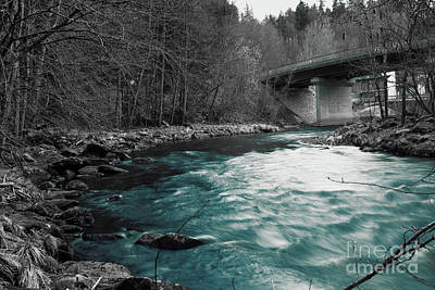 Monochrome Landscapes - Blue Water by RTB Photo