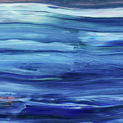 Royalty-Free and Rights-Managed Images - Blue Waves Of River Stream  by Irina Sztukowski