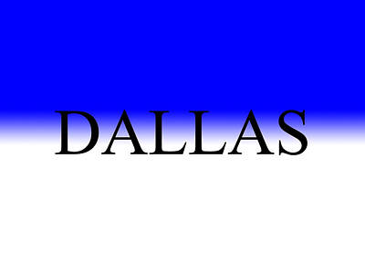 Crystal Wightman Rights Managed Images - Blue White Dallas Royalty-Free Image by Crystal Wightman