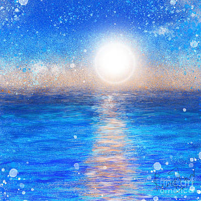 Digital Art - Blue Winter Seascape Painting by Remy Francis