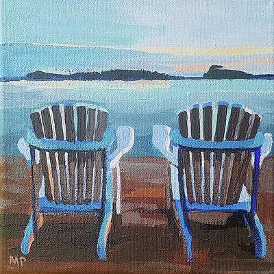 Painting - Blue X 2 by Melinda Patrick