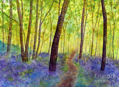 Abstract Oil Paintings Color Pattern And Texture - Bluebell Wood by Hailey E Herrera