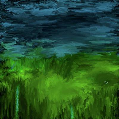 Moody Trees - Bluegreen #j4 by Leif Sohlman