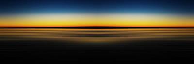 Digital Art - Blurred Ocean Shores Sunset Reflection 2 by Pelo Blanco Photo