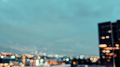 Unicorn Dust - Blurry Los Angeles City Dots by Jera Sky