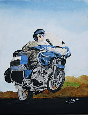 Painting - BMW by Terry Frederick