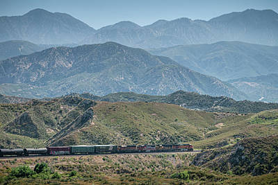 1920s Flapper Girl - BNSF 5294, 8732, 158 and 7334 west bound in Cajon Pass California by Jim Pearson