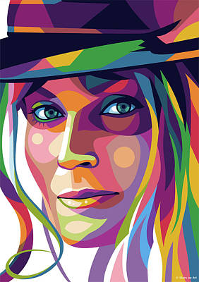 Mixed Media Royalty Free Images - Bo Derek Royalty-Free Image by Stars on Art