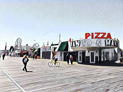 Surrealism Royalty-Free and Rights-Managed Images - Boardwalk in Winter by Surreal Jersey Shore