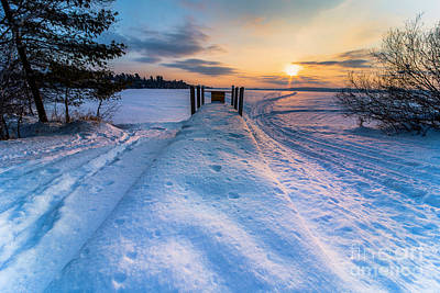 Royalty-Free and Rights-Managed Images - Boat Launch in February by Twenty Two North Photography