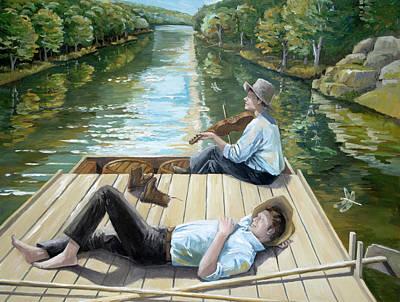 Painting - Boatin' Up Sandy by Paula McHugh