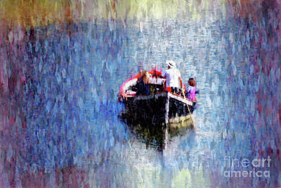 Transportation Digital Art - Boating on the Arno River by Mary Machare