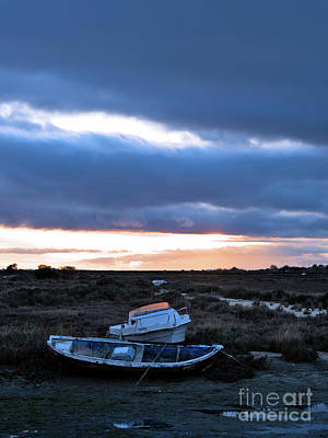 Photograph - Boats at winter in Fuzeta by Angelo DeVal