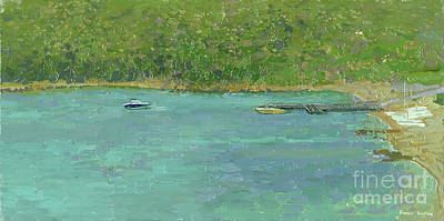 Painting - Boats Barbaros Bay by Simon Kozhin