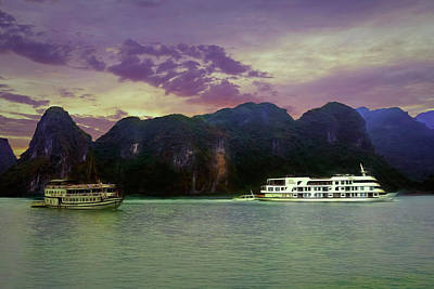 Michael Jackson - Boats in Halong Bay by Maria Coulson