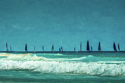 Royalty-Free and Rights-Managed Images - Boats On The Blue by Az Jackson