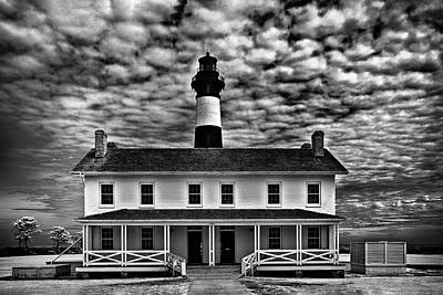 Black And White Flower Photography - Bodie Island in black and white by Anthony M Davis