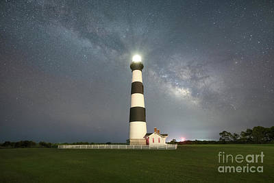 Vintage Movie Stars Royalty Free Images - Bodie Island Lighthouse At Night Royalty-Free Image by Michael Ver Sprill