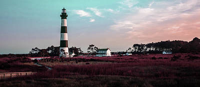 Surrealism Royalty-Free and Rights-Managed Images - Bodie Island Lighthouse - Cape Hatteras Outer Banks NC 2 - Surreal Art by Ahmet Asar - Shortcut by Celestial Images
