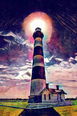 Digital Art - Bodie Lighthouse by Dan Urban