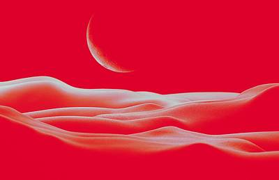 Surrealism Royalty Free Images - Bodyscape - Red Royalty-Free Image by Marianna Mills