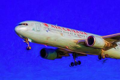 Royalty-Free and Rights-Managed Images - Boeing 767 Art Air Canada  by David Pyatt
