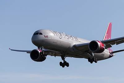 Modern Feathers Art - Boeing 787 Virgin Atlantic by David Pyatt