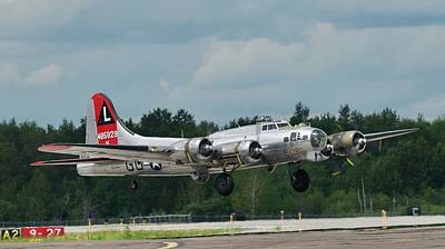 Surrealism Royalty Free Images - Boeing B-17G Flying Fortress - Surreal Art Royalty-Free Image by Celestial Images