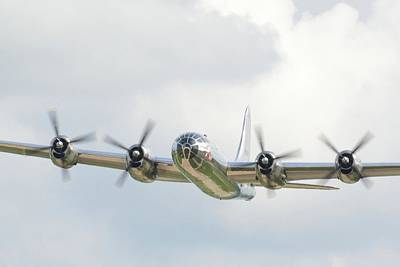 Surrealism Royalty Free Images - Boeing B-29 Superfortress - Surreal Art Royalty-Free Image by Celestial Images