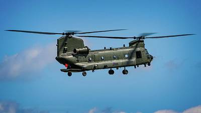 Surrealism Royalty Free Images - Boeing Chinook HC2 - Surreal Art Royalty-Free Image by Celestial Images