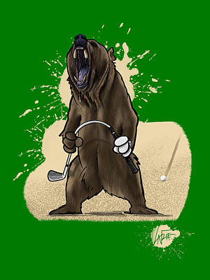 Royalty-Free and Rights-Managed Images - Bogey Bear by Canine Caricatures Custom Merchandise