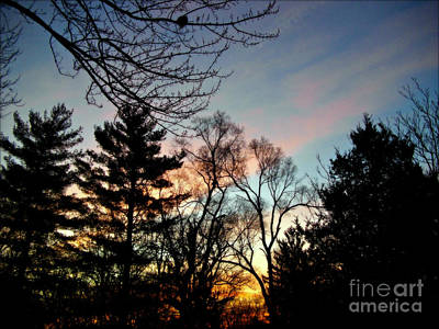 Frank J Casella Royalty-Free and Rights-Managed Images - Bold Sunrise Pastel Sky by Frank J Casella
