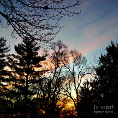Frank J Casella Royalty-Free and Rights-Managed Images - Bold Sunrise Pastel Sky -  Square by Frank J Casella