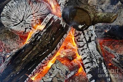 Thomas Kinkade - Bonfire Flames and Ash by Marie Debs