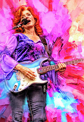 Royalty-Free and Rights-Managed Images - Bonnie Raitt Blues Musican by Mal Bray