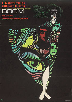 Peacock Feathers - Boom movie poster 1970 by Stars on Art