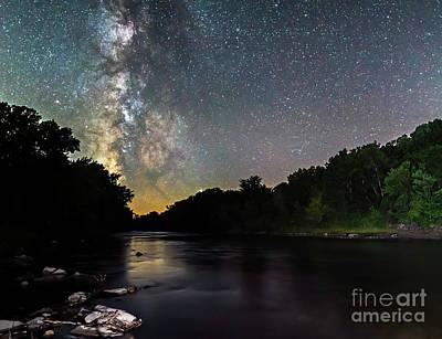 Photograph - Boone River Milky Way by Willard Sharp