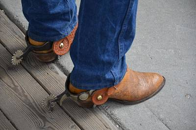 Christmas Cards - Boots With Spurs by Justin Smith