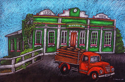 Drawings Royalty Free Images - Boozy on Bridge St - Waikato Draught Brewery. Hamilton, New Zealand Royalty-Free Image by Stuart Clifford