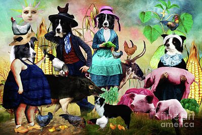 Bicycle Patents - Border Collie Country Life by Sandra Sij