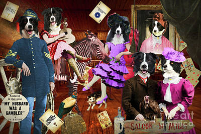 Bicycle Patents - Border Collie My Husband was a Gambler  by Sandra Sij