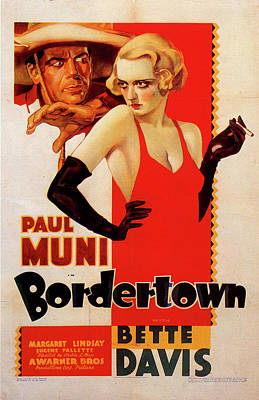 Mixed Media Royalty Free Images - Bordertown movie poster 1935 Royalty-Free Image by Stars on Art