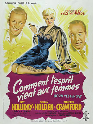Royalty-Free and Rights-Managed Images - Born Yesterday, with Judy Holliday and William Holden, 1950 by Stars on Art