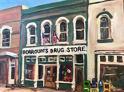 Susan Elizabeth Jones Royalty-Free and Rights-Managed Images - Borroums Drug Store by Susan Elizabeth Jones